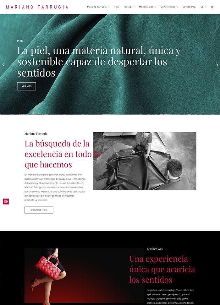 La nueva web de Mariano Farrugia